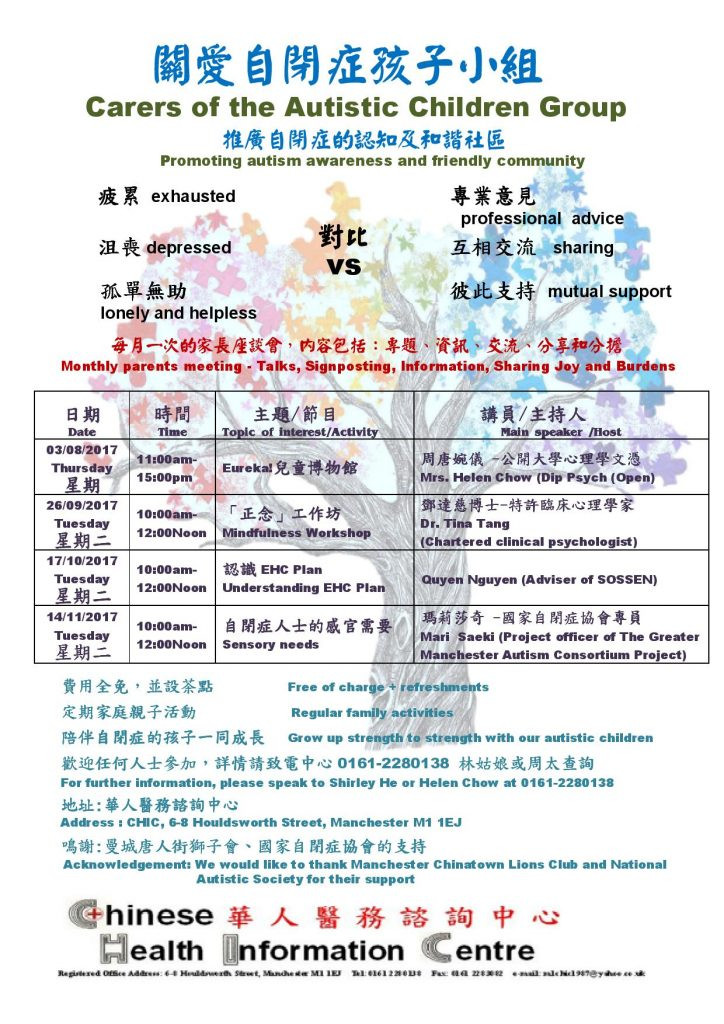 Autism programme (August – November 2017)